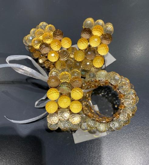 $36.00 Festive Gold Ball Napkin Rings