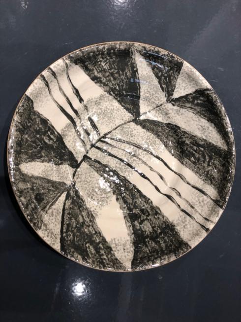 "$248.00 16"" Bowl Zebra Charcoal"