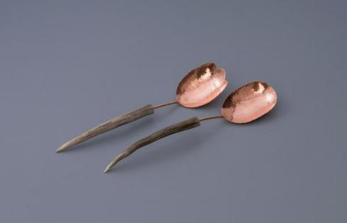 $358.00 Copper Medium Spoon Salad Set - Antler Point
