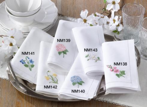 Embr'D Daffodil Hemstich Napkin collection with 1 products