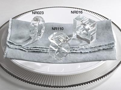 $10.00 Crystal Napkin Rings Square