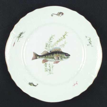 $570.00 Ginori Quenelle Fish Plates Set 6 Asst Fish