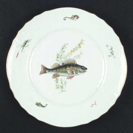 $570.00 Ginori Quenelle Fish Soup Plates Set/6
