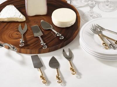 $28.00 Knotted Cheese Cutlery - GOLD - set/3