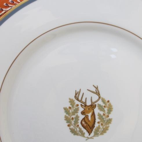 Charlotte Moss   Stag Salad Plate Gold Trim  $76.00