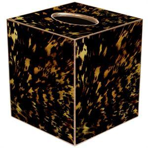 Social Memphis Exclusives   Marye Kelley Tortoise Shell Tissue Box Cover $40.00
