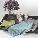 Desaree Linen Printed Design Towel/Napkin - Aqua collection with 1 products