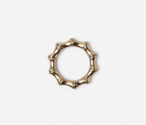 $80.00 Avery Gold Brass Napkin Rings set/4
