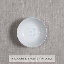 $34.00 Petite Bowl w/ Gold Monogram