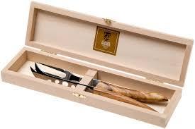 Claude Dozorme   Berlingot Olive Wood Cheese Knife Set $112.50