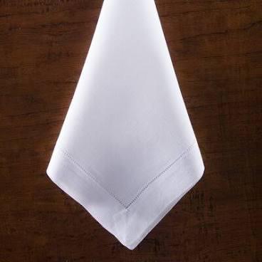 Julian Mejia Design   Linen Hemstitch Napkin White $38.00