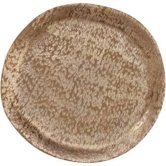Saro Designs   Brushed Alumimum Gold Charger $34.00