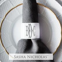 Sasha Nicholas  Napkin Rings Oval Napkin Rings w/Monogram $30.00