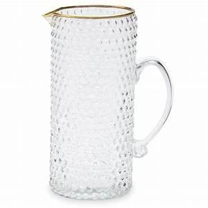 Bubble Glass Pitcher w/Gold Rim collection with 1 products