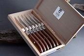 $488.00 Laguiole Steak Knife Rosewood Handle Shiny Set/6
