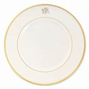 Signature Ultra White Rim Dinner Plate Monogram collection with 1 products