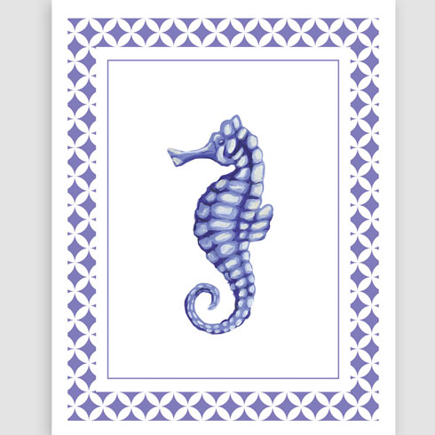 $40.00 11x14 Seahorse Art Print