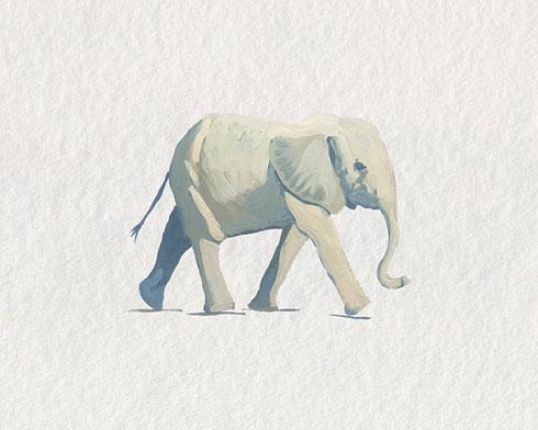 $40.00 11x14 Baby Elephant Nursery Art Print