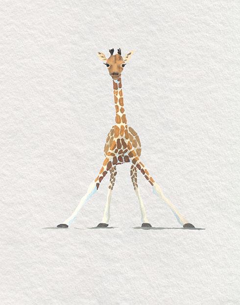 $40.00 11x14 Baby Giraffe Nursery Art Print