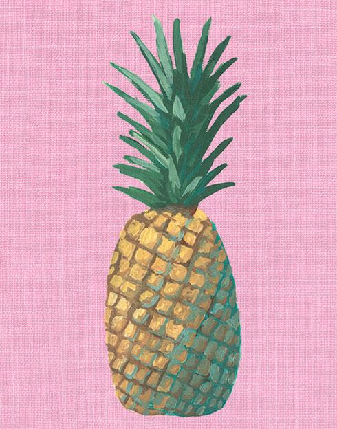 $40.00 11x14 Pink Pineapple Pop Art Print