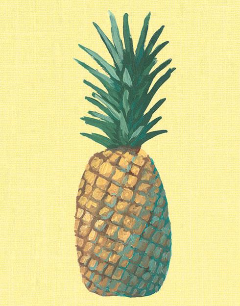 $30.00 8x10 Yellow Pineapple Pop Art Print