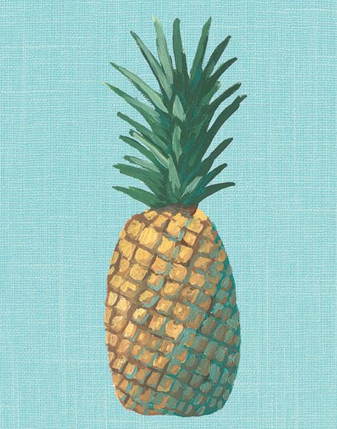 $40.00 11x14 Aqua Pineapple Pop Art Print