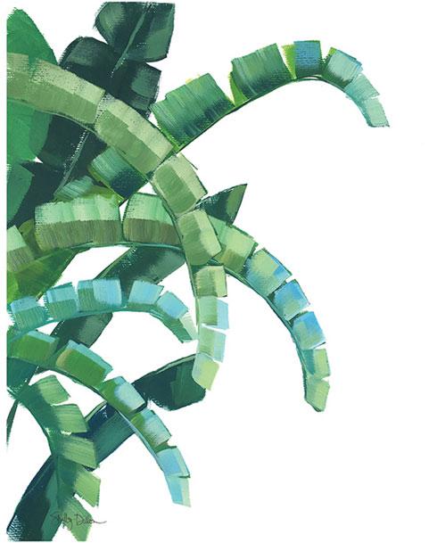 $40.00 11x14 Banana Leaf Art Print