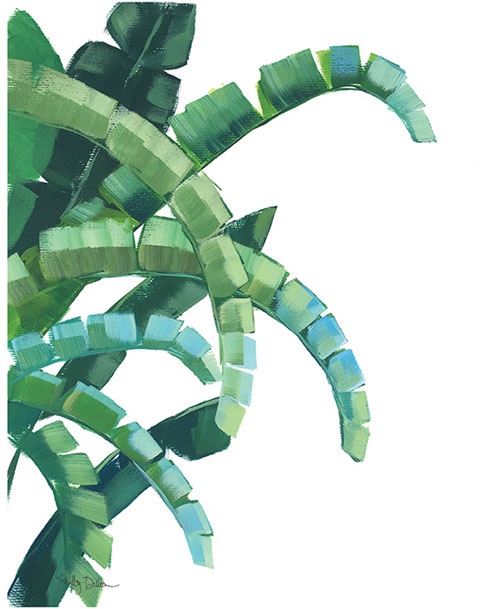 $19.00 Banana Leaf Art Print