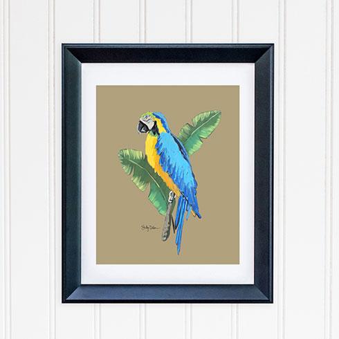 $40.00 11x14 Blue Macaw Tropical Bird Art Print