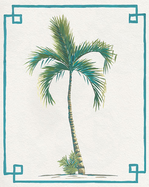 $40.00 11x14 Chinoiserie Palm Tree Print II