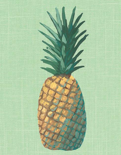 $40.00 11x14 Green Pineapple Pop Art Print