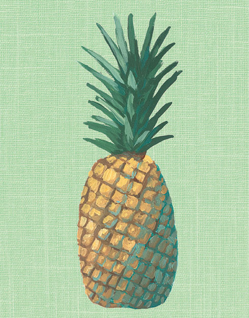 $30.00 8x10 Green Pineapple Pop Art Print