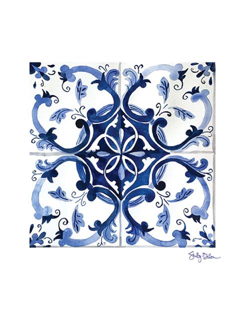 $40.00 11x14 Mediterranean Azulejo Tile Art Print