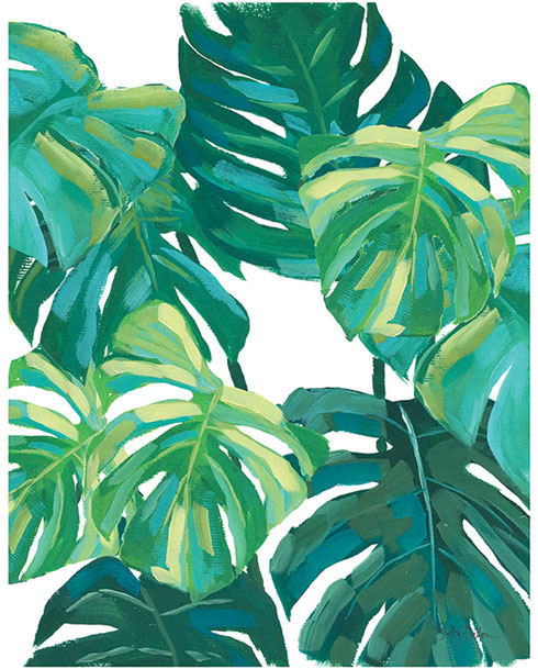 $40.00 11x14 Monstera Leaf Art Print