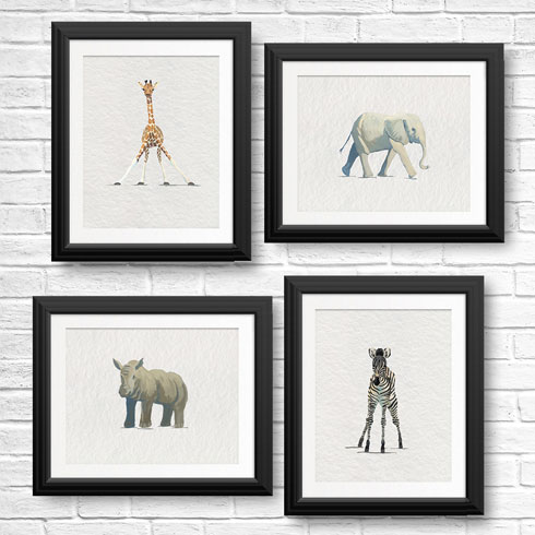 $120.00 11x14 Baby Animal Art Print Collection