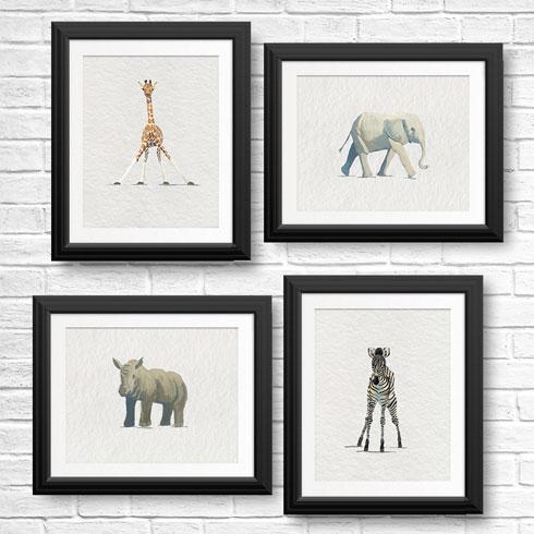 $60.00 Baby Animal Art Print Collection