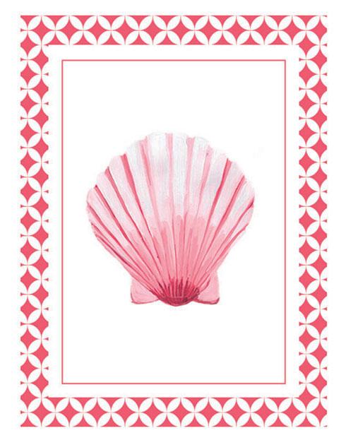 $40.00 11x14 Coral Pink Seashell Wall Art