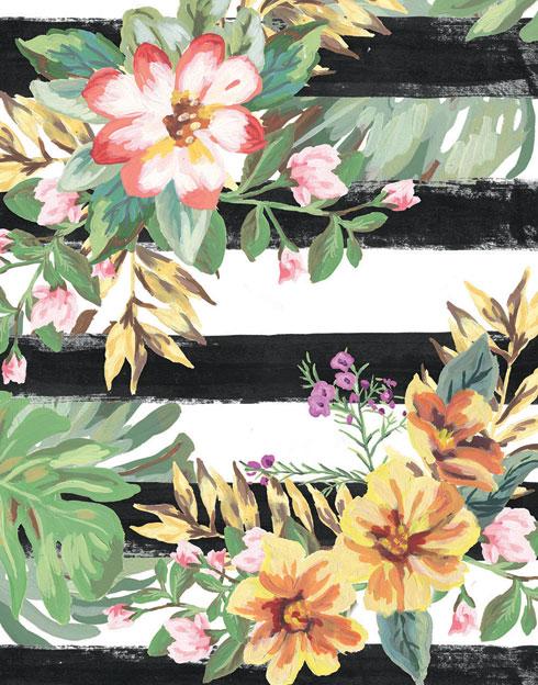 $120.00 11x14 Tropical Flower Pop Art Prints - Set of 4