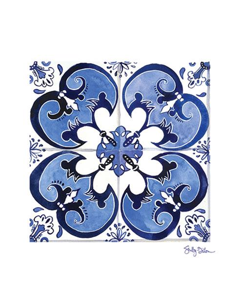 $40.00 11x14 Spanish Azulejo Tile Art Print