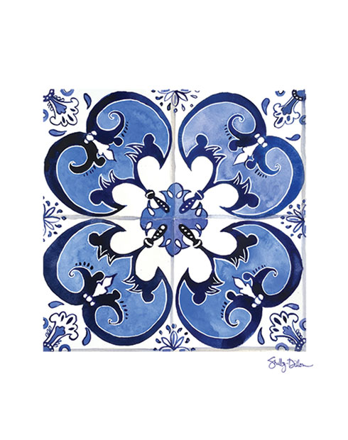 $30.00 8x10 Spanish Azulejo Tile Art Print