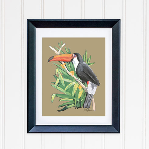 $40.00 11x14 Toucan Bird 2 Art Print