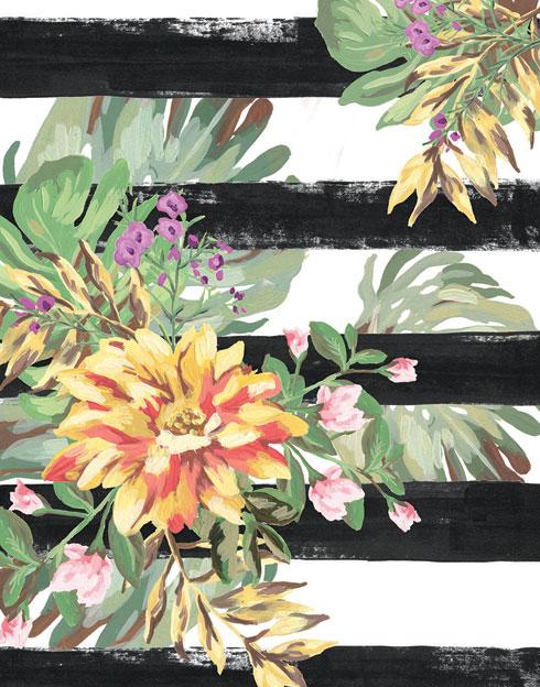$30.00 8x10 Orange Tropical Flower Print 1