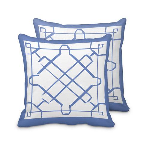 $125.00 Large Blue Lattice Pillow