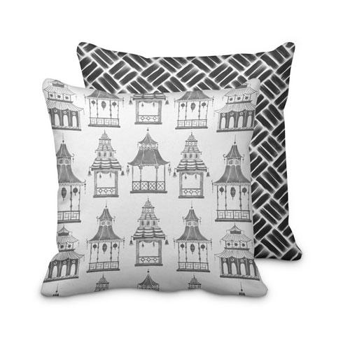 $125.00 Large Black Pagoda Pillow