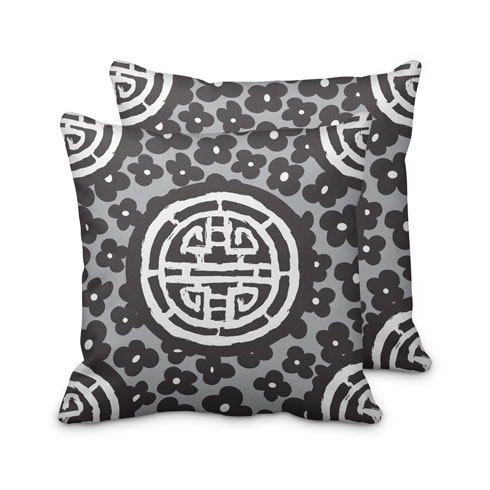 $125.00 Large Black Medallion Pillow
