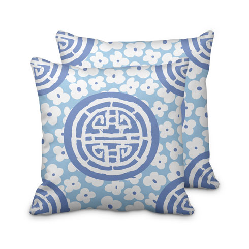 $125.00 Large Blue Medallion Pillow