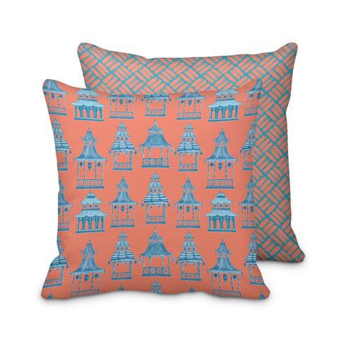 $125.00 Large Pink Pagoda Pillow