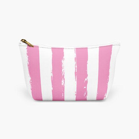 $25.00 Black Striped Cosmetic Bag  Large