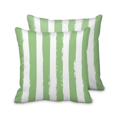 $125.00 Large Green Striped Pillow