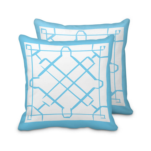 $125.00 Large Light Blue Lattice Pillow
